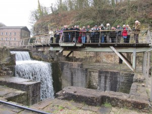 Volunteers visiting Cromford Mill